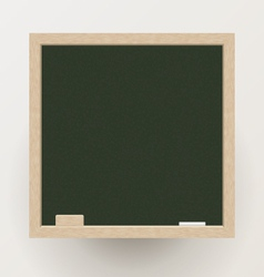 Blank blackboard with chalk and eraser vector