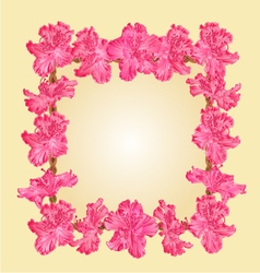 Frame with rhododendron greeting card vector