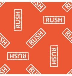 Orange rush stamp pattern vector