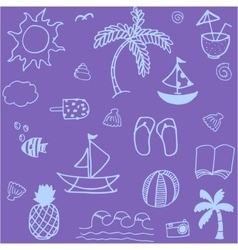 Doodle element summer vector image