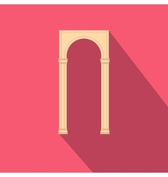Rectangular arch icon flat style vector