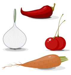 Collection of vegetables EPS10 vector image