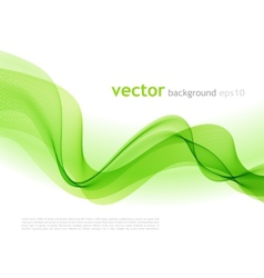 Abstract colorful background green smoke wave vector image vector image