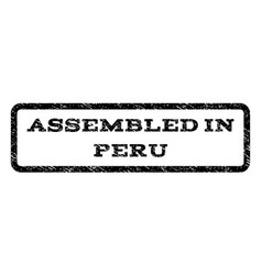Assembled in peru watermark stamp vector