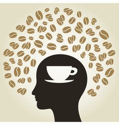 Coffee a head vector