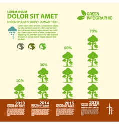 Eco info graphic design green vector image vector image