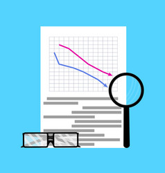 Fall of market flat business vector
