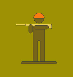 flat icon on background kids military soldier vector image