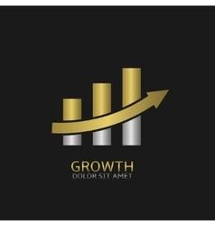 Growth concept icon vector