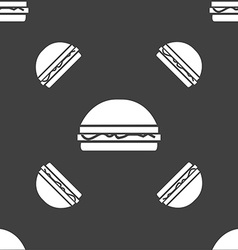 Hamburger icon sign seamless pattern on a gray vector