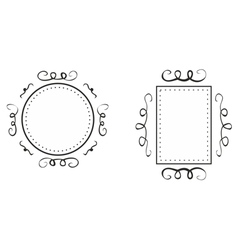 Hand drawn decorative frames isolated on white vector