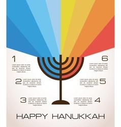 Hanukkah infographics vector