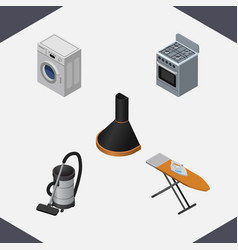 isometric electronics set of air extractor vector image