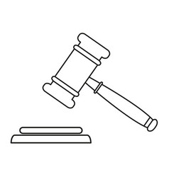 judge hammer icons vector image
