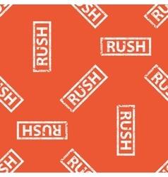 Orange rush stamp pattern vector