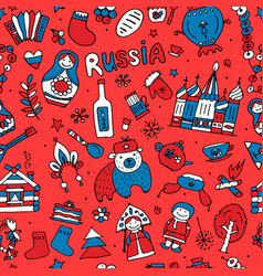 russia seamless pattern for your design vector image