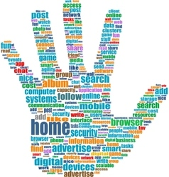 the hands symbol which is vector image vector image
