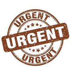 Urgent brown grunge round vintage rubber stamp vector