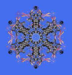winter snow december season snowflakes icon in vector image