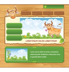 wooden ecological template vector image vector image