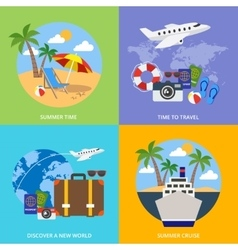 World Of Tourism Concept vector image
