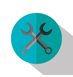 Wrench construction tool device icon vector