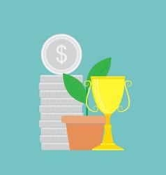 Successful finance vector