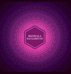 Elegant background with mandala design vector