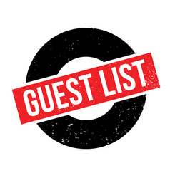Guest list rubber stamp vector