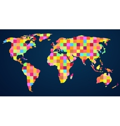 Colorful rainbow map vector image