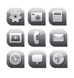 Interface icon set vector