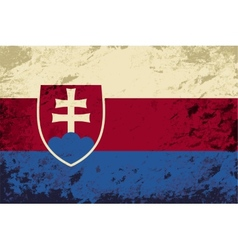 Slovakia flag grunge background vector