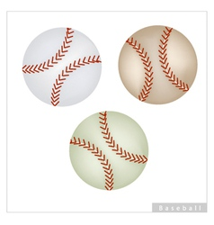 Set of baseball ball on white background vector