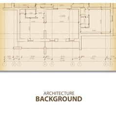Architecture blueprint background fragment vector