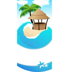 Resort background vector