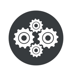 Monochrome round cogs icon vector