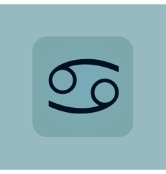 Pale blue cancer icon vector