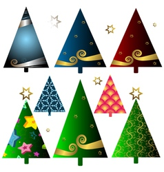 Christmas decorative trees vector