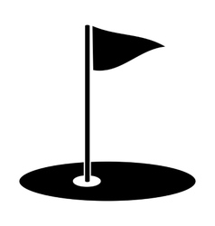 Golf simple icon vector