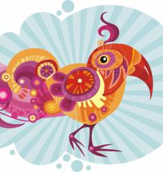decorative bird vector image