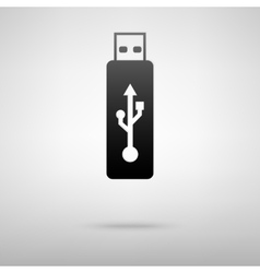 Usb memory black icon vector
