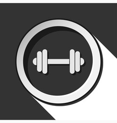 Icon - dumbbell with shadow vector