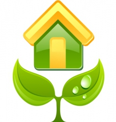 eco sign vector image