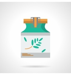 Herbal tincture flat color icon vector