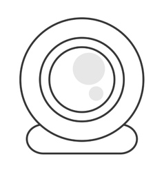 Single webcam icon vector