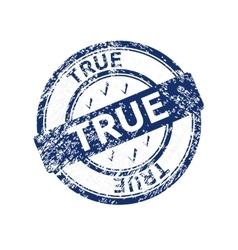 True blue grunge round vintage rubber stamp vector