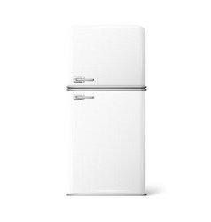 A retro fridge vector