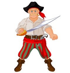 Armed pirate vector image vector image