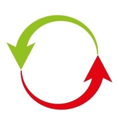 Arrows around isolated icon design vector