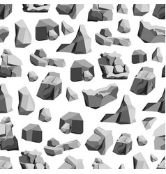 Cartoon rocks and stones background pattern on a vector